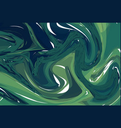 luxury dark green marble background with swirls vector image