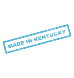 Made In Kentucky Rubber Stamp vector