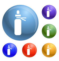 medical pill icons set vector image