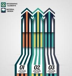Modern infographic elements business arrow vector