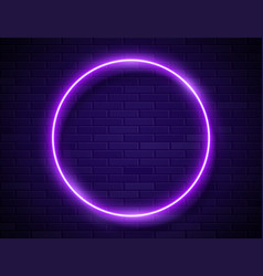 neon glowing circle purple frame for banner vector image
