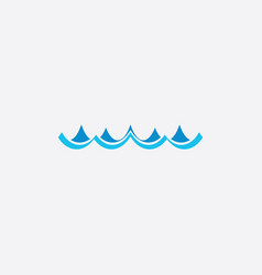 ocean water waves icon symbol vector image