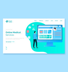 online medical service modern clinic technologies vector image