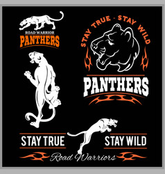 Panther sport t-shirt graphics vintage apparel vector