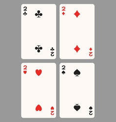 Playing cards two vector image