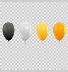 realistic air balloons set vector image