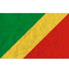 Republic of Congo paper flag vector image