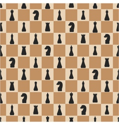 Seamless pattern of chess on chessboard vector