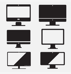 set of computer icon pc flat design vector image