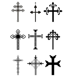 Set of crosses vector