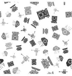 Set printed circuit board pcb robot internet of vector