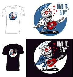 Skeletons T shirt Angel Serenade vector