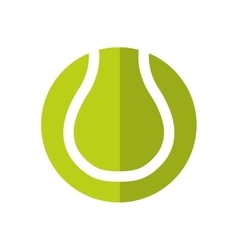 Tennis ball hobby sport icon graphic vector