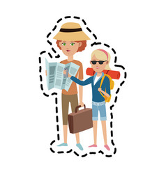 Tourist travel icon image vector