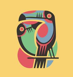 tropical summer birds shirt print vector image