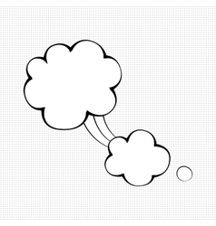 Unique comic speech bubble vector image
