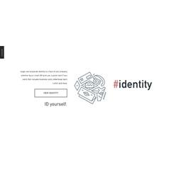 Web design block website template vector image