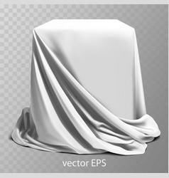 White silk fabric covering the podium beautiful vector