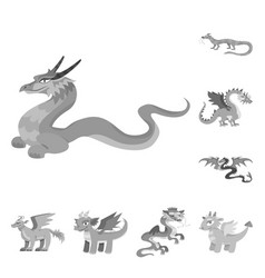 Wild and mythical sign vector