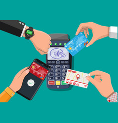 wireless contactless or cashless payments vector image