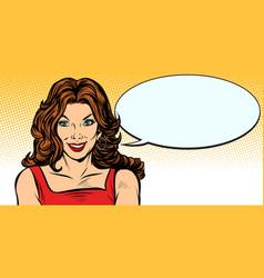 Woman comic balloon vector