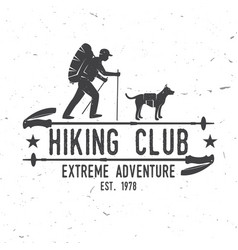 hiking club extreme adventure vector image vector image