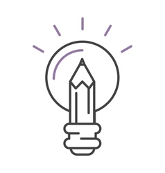 Light lamp sign idea icon concept bulb in hand vector image vector image