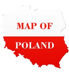 Map of Poland with national flag vector image