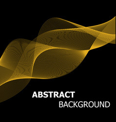 abstract golden line wave background vector image vector image