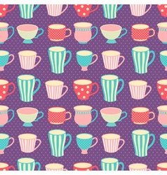 cups pattern vector image