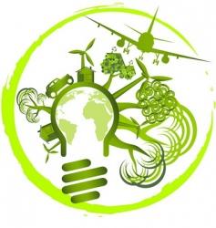 environment car airplane vector image vector image