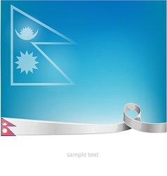 nepal flag on background vector image vector image