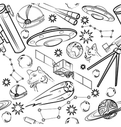 Pattern with space elements vector image vector image