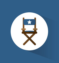 director chair film movie icon vector image