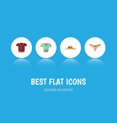 flat icon dress set of t-shirt lingerie elegant vector image