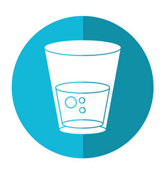 glass water fresh icon shadow vector image vector image