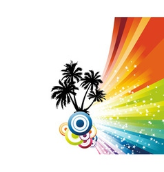 palm advertisement vector image vector image