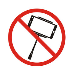 selfie forbidden icon with no sign isolated on vector image