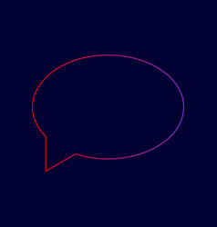 speech bubble icon line icon with vector image