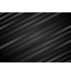Abstract black diagonal stripes background vector image vector image