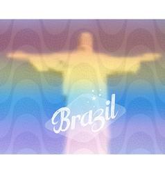 Brazil monument tourism concept vector image