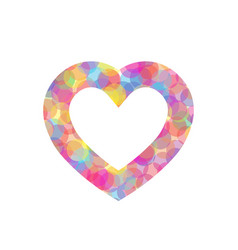 colorful heart outline of vector image vector image