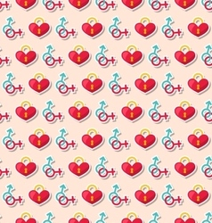 Colorful Seamless Pattern for Valentines Day vector image vector image