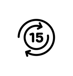 15 days exchange icon vector image