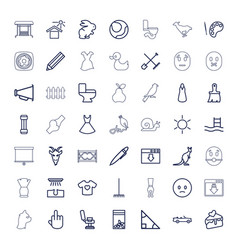 49 drawing icons vector