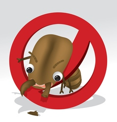 a termite cartoon character vector image