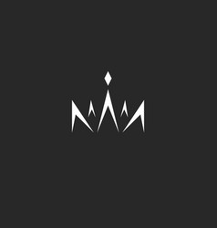 abstract crown logo in style monogram black vector image