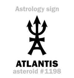Astrology asteroid atlantis vector