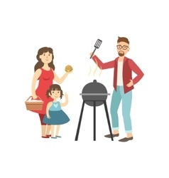 Barbeque Picnic For Family vector image
