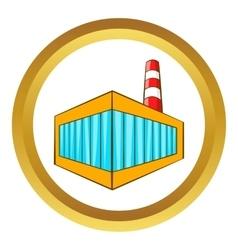 Beer bottling building icon vector